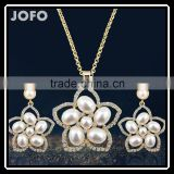 New Arrival Wholesale African Costume Jewelry Set Jewelry Set For Wedding Gold Flower Jewelry Sets