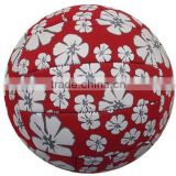 beautiful flower full printed stitching machine volleyball