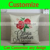 Romantic White Day clover love item green sweet valentine gift printed pillow christmas pillow
