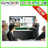 Gaoke 6 to 10 users 65 inch capacitive touch monitor touch screen TV LED all in one teaching interactive whiteboard