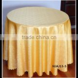 Elegant flower design tablecloth ,gold color round table cloth for wedding, modern design tablecloth for table decoration