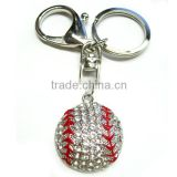 Wholesale Sports Jewelry Baseball Charm Rhinestone Key Chain