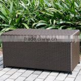 Wicker Patio Deck Pool Storage Box Chest Trunk Cushion Pillow Toy Bin Poolside Storing                                                                         Quality Choice