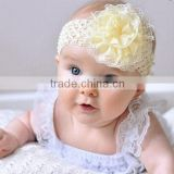 Ivory Fabric Lace Baby Head Band