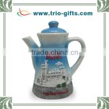 Customization hand painted sky blue ceramic tea pot
