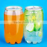custom PET transparent soft drink can plastic soda can beverage can with easy open