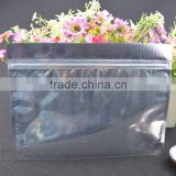 lamination zipper one side clear plastic custom design aluminum foil packing bag with air hole