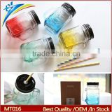 gradient color wholesale plastic mason jar
