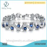 Best quality fashion jewelry blue gems bracelet chains bracelet for women