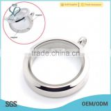 2015 fashion 20mm/25mm/30mm round plain stainless steel photo glass memory floating charm locket