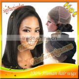 Fastshipping best quality Yaki Straight brazilian human hair Full lace wig&Lace front wig Natural hairline baby hair HOT!!!