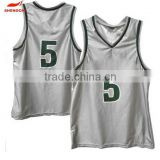 2015 China manufacturer Printed Basketball Jersey Durable classical short sleeve basketball wear