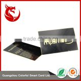 Popular electroplated golden stainless steel metal business card                                                                                                         Supplier's Choice