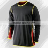Neck long sleeved T-shirt leisure sports coach in football goalkeeper system