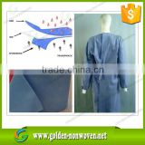 sms nonwoven fabric meltblown pp non woven fabric/ligh blue sms non woven fabric for disposable surgical gowns