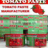 Canned Tomato Paste 2200gram with red plastic lid cover