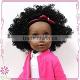 Afro short Kanekalon curly wigs black doll afro doll 18 inch