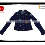 Denim Fabric Type and Jacket Product Type oversize denim jacket,ladies destressed jacket manufacturer