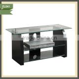 detachable black and white revolving antique tv stand
