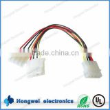For hard drive 5.08mm pitch 4 pin male to female 2 way splitter internal power cable lead wire harness