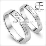 """Love Forever"" 925 Sterling Silver Couples Rings for Engagement                                                                         Quality Choice"