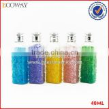 small clear plastic hotel bottle for soap noodle disposable cosmetic bottle