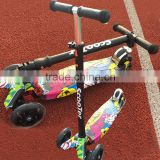 Kids Four Wheels Push Foldable Kick Board Scooter