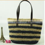 New 2015 Hot Selling Natural Material new lady summer handbag recycled make straw beach bag