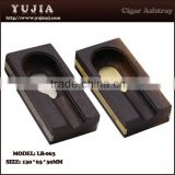Guangzhou custom ashtray promotion products wenge portable cigar ashtray for travel cigar accessories