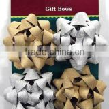 "HOT SALE 4"" Gold/Silver Glitter Poly Ribbon Christmas Holiday Gift Star Bow"