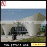 China factory PVDF Cover Q235 Steel wind resist warehouse large storage warehouse tent Guarantee year 10years permanent