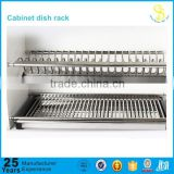 Guangzhou factory wall-mounted metal dish rack, commercial stainless steel dish rack, hanging stainless steel dish rack