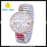 WJ-5201 special colorful print flower alloy strap fashion Geneva top brand ladies wrist watch