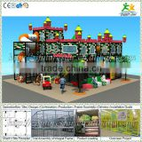 Free design CE & GS standard eco-friendly LLDPE kids playground plastic castle and slide