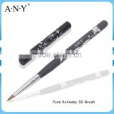 ANY Nail Art Carve Design Wood Handle Pure Sable Nail 3D Pen Brush with Cap