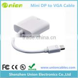 Mini DisplayPort Display Port DP To VGA Adapter Cable for Apple MacBook White