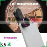 2016 newest products innovative gadgets fisheye lens wide angle lens macro camera lens for iPhone 6s samsung galaxy s6 huawei P8