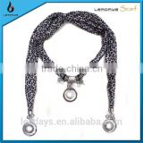 wholesale china import high quality round pendant jewelry scarf