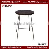 MA-1103R Vintage Industry Design Wood Bar Table With Stainless Steel Legs