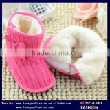 Baby Toddler Girl Cable-Knit Boot Crib Shoes                                                                         Quality Choice