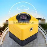 New arrival cube large panoramic 360 video camera with WiFi                                                                         Quality Choice
