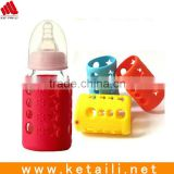 food grade silicone baby water bottle sleeve/ baby bottle covers nipple cover