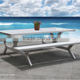 China 2015 the king white plastic wood/wpc Outdoor Garden Patio dining table and beach chair furniture                                                                                                         Supplier's Choice
