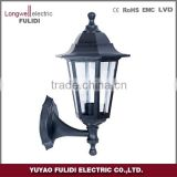 P611 plastic classical garden light ,outdoor post lantern lamp wall light energy saving lamp E27 lampholder IP44