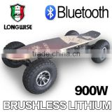 900w brushless electric skateboard with wireless remote control, 38km/h