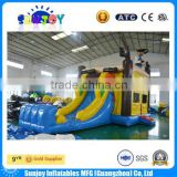 2016 factory price pirate ship inflatable pirate boat combo with slide for kids and adults