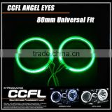 80MM full circle CCFL angel eyes with red blue white yellow orange purple green angel eyes rings ccfl for cars