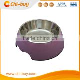 "Chi-buy Purple Detachable Dual Melamine Pet Bowl antiskid Dog cat food water Bowl,S Size:3.93""LX5.51""WX1.77""H"