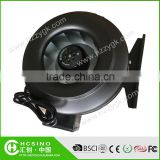 Quiet Hydroponics Inline Fan Metal Casing Flexible Duct Fan Ventilation Reverse Air Blower Fan