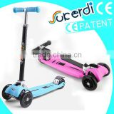 plastic body kit scooter, 4 wheels, foot pedal scooter